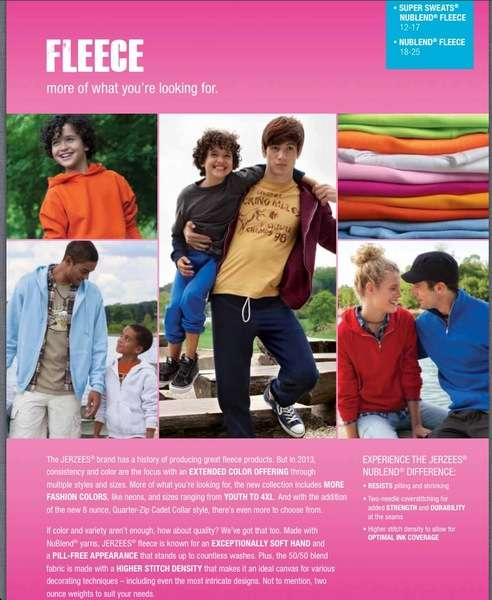 Catalog. Jerzees. Grooming by Loni