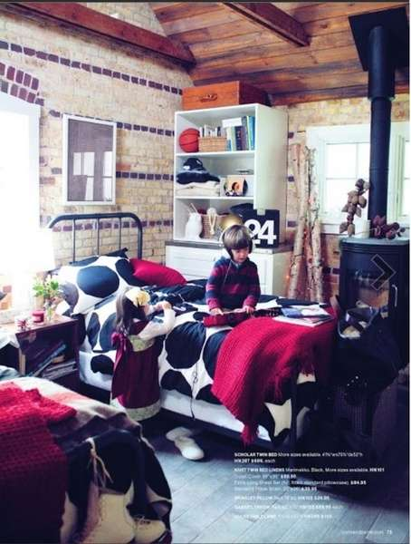 Tearsheet. Crate & Barrel holiday 2012 catalog. Hair and makeup by Loni.