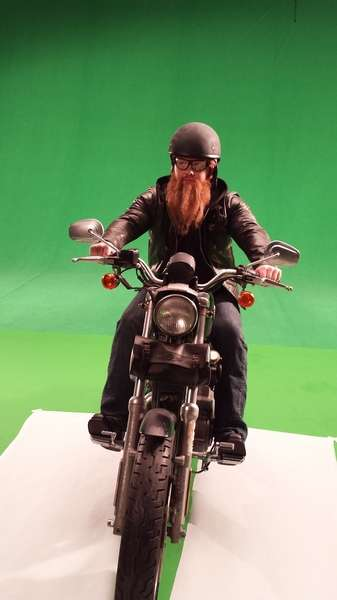 Kansas Dept. Of Transportation Motorcycle Safety. Beard & grooming by Loni