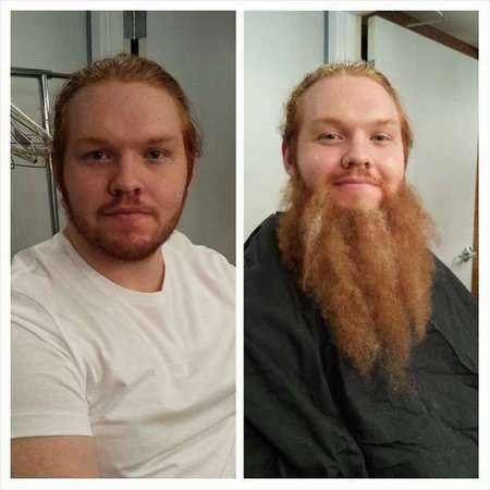 Kansas Dept. Of before & after. Look 1.  Transportation Motorcycle Safety. Beard & grooming by Loni